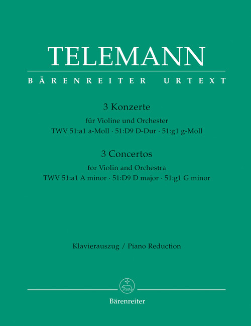 Telemann, 3 Konzerte [Bar:BA5876-90]