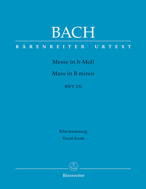 Bach, J.S. - Mass in B Minor / Vocal Score [Bar:BA5935-90]