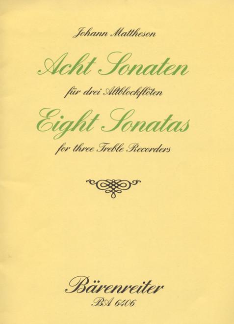 Mattheson, Eight Sonatas [Bar:BA6406]