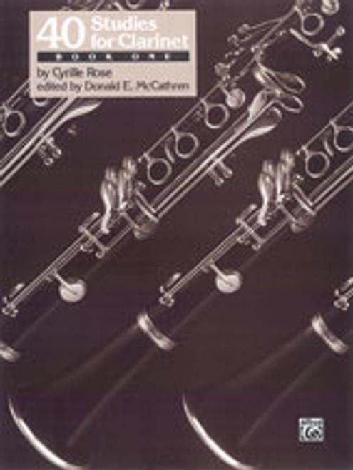 40 Studies for Clarinet, Book 1 [Alf:00-EL03457]
