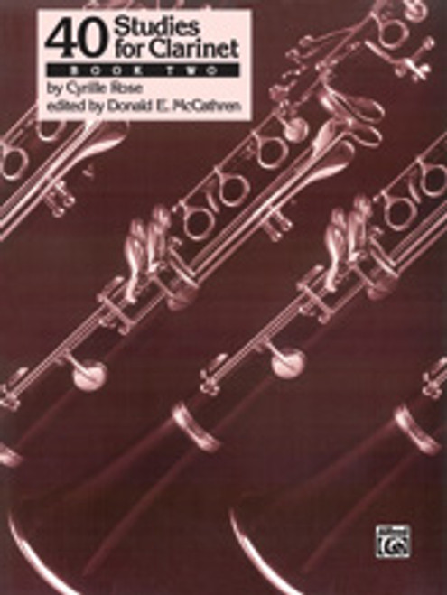 40 Studies for Clarinet, Book 2 [Alf:00-EL03688]