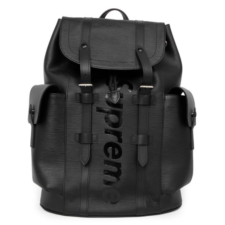 Louis Vuitton X Supreme Black Epi Christopher Backpack PM