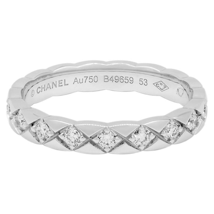 Chanel 18K White Gold Diamond Coco Crush Ring
