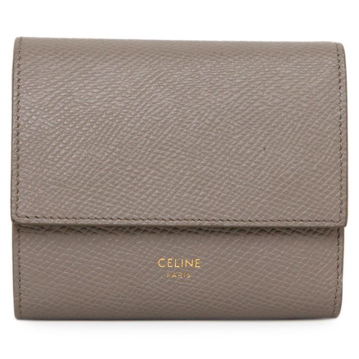 Celine Pebble Grained Calfskin Small Trifold Wallet