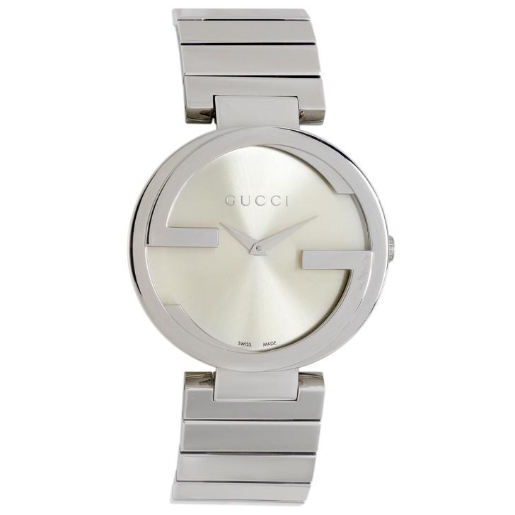 Gucci Stainless Steel Interlocking Ladies Watch YA133308
