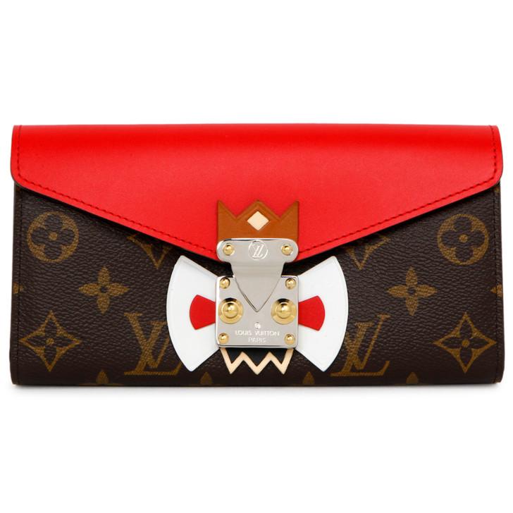 Louis Vuitton Rouge Monogram Tribal Mask Sarah Wallet
