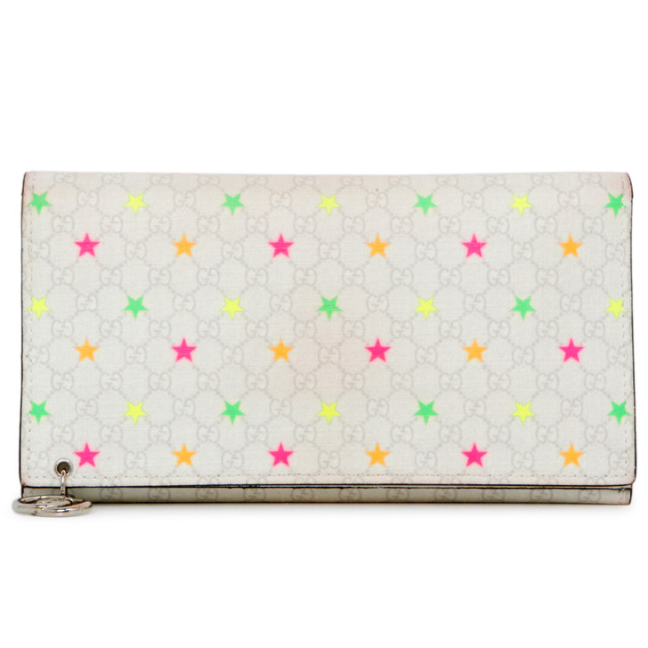 Gucci Micro GG Supreme Stars Continental Wallet