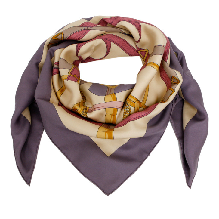 Hermes Silk Eperon D'Or Scarf  90
