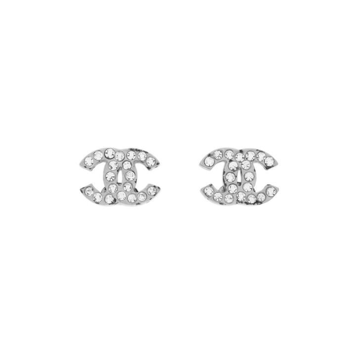 Chanel Mini CC Crystal Earrings