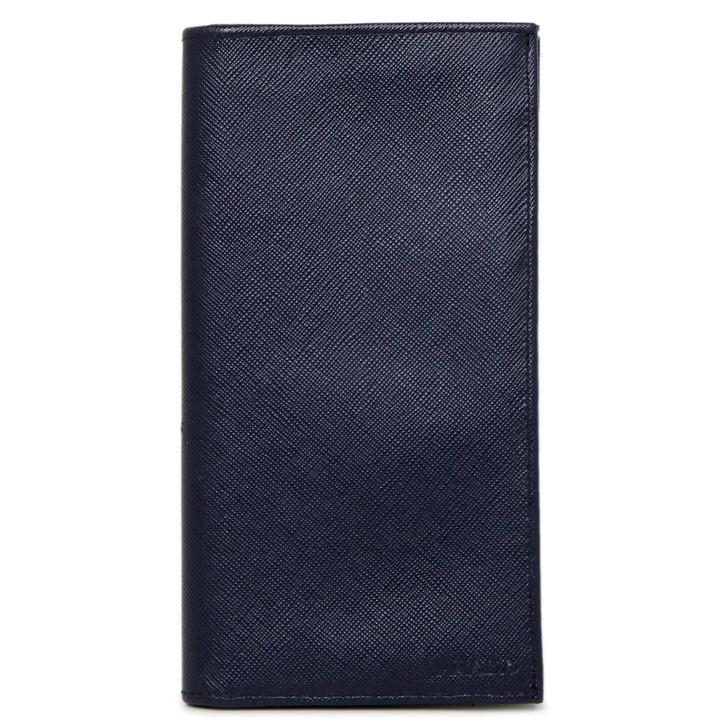 Prada Navy Saffiano Bifold Long Wallet