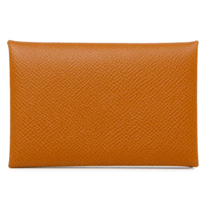 Hermes Gold Epsom Calvi Card Case