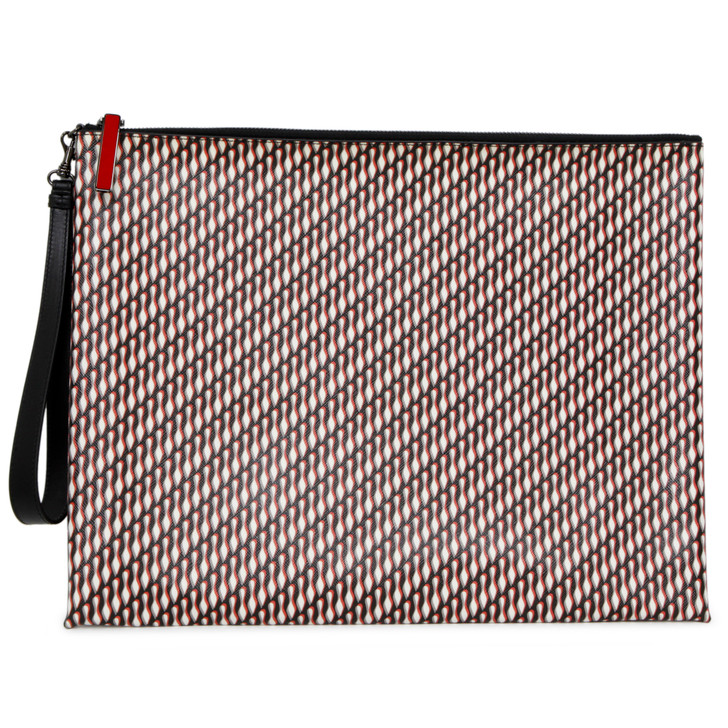 Christian Louboutin Printed Canvas Peter Pouch