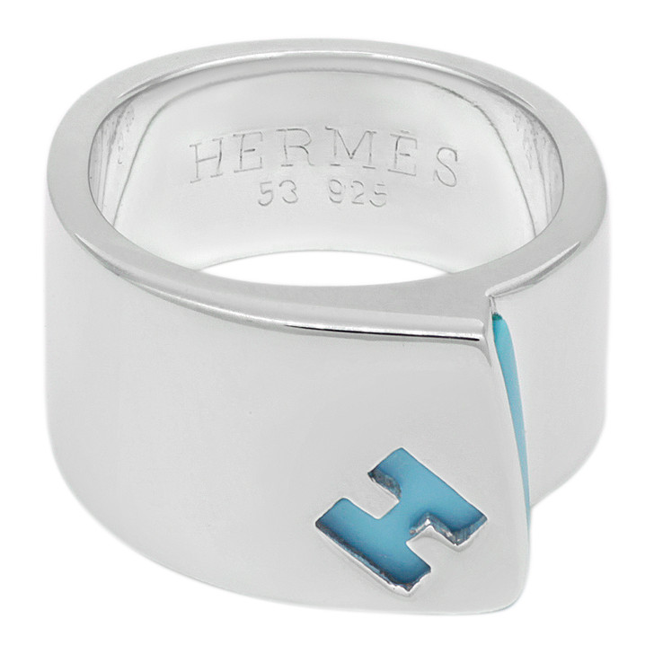 Hermes Sterling Silver Candy Ring