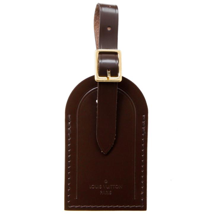 Louis Vuitton Ebene Calfskin Luggage Tag