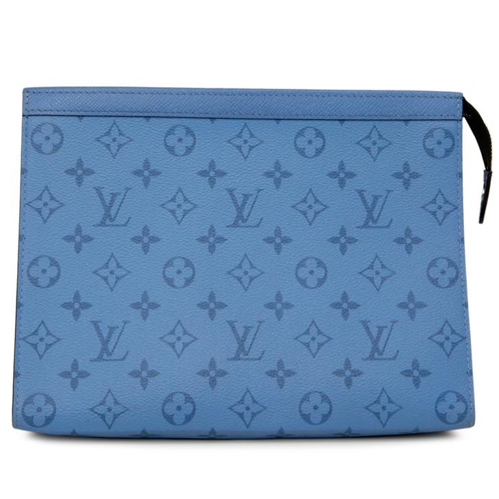 Louis Vuitton Denim Blue Monogram Pochette Voyage MM