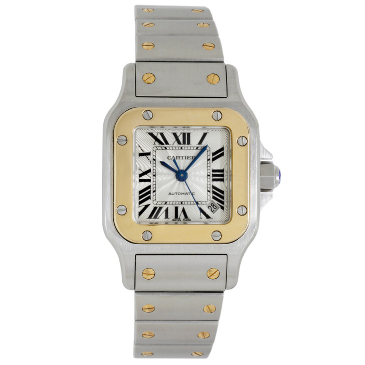 Cartier Stainless Steel & 18K Yellow Gold Santos Galbee Automatic Ladies Watch 2423