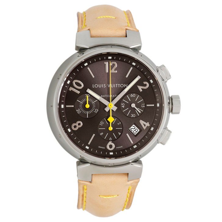Louis Vuitton Stainless Steel Tambour Automatic Chronograph Q1121