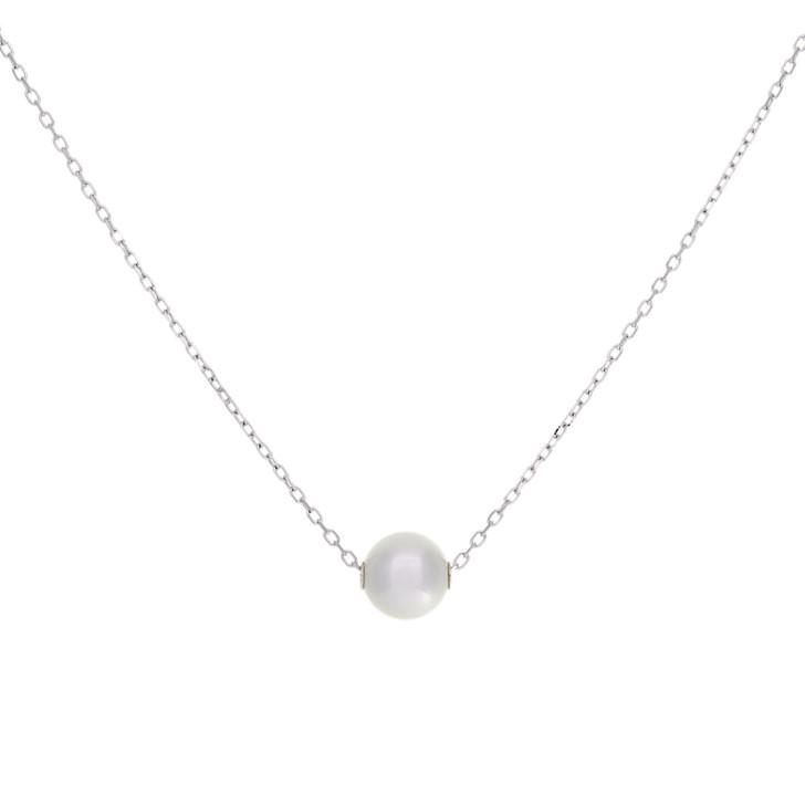 Mikimoto 18K White Gold Pearl Pendant Necklace