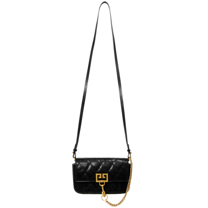 Givenchy Black Goatskin GV3 Mini Pocket Convertible Bag