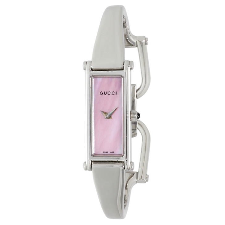 Gucci Stainless Steel Pink Mother of Pearl 1500L Watch