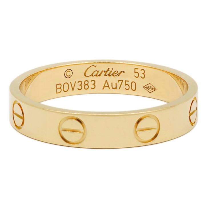 Cartier 18K  Yellow Gold Love Wedding Band