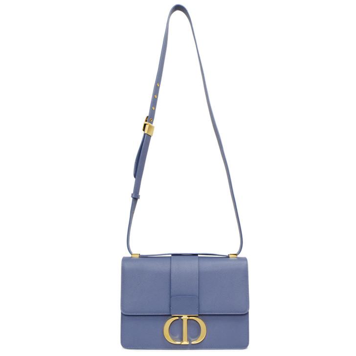 Christian Dior Blue Grain Calfskin 30 Montaigne  Flap