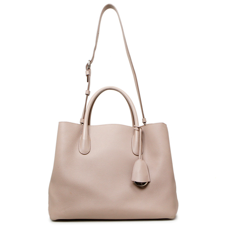 Christian Dior Rose Poudre Calfskin Large Open Bar Tote