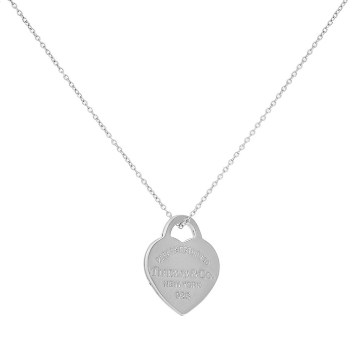 Tiffany & Co. Sterling Silver Small Heart Tag Pendant