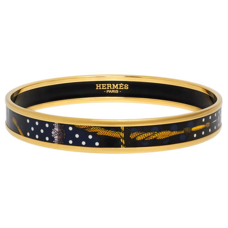 Hermes Enamel Printed  Narrow Bracelet
