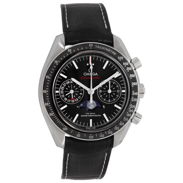 Omega Stainless Steel Speedmaster Co-Axial Moonphase Chronograph 304.33.44.52.01.001