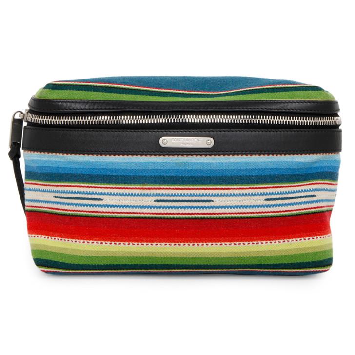 Saint Laurent Striped Wool City Belt Bag