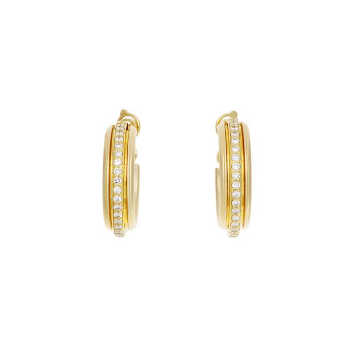 Piaget 18K Yellow Gold & Diamond Possession Hoop Earrings