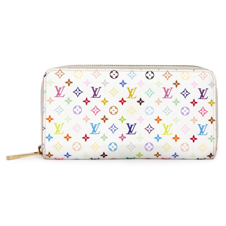 Louis Vuitton White Multicolor Zippy Wallet