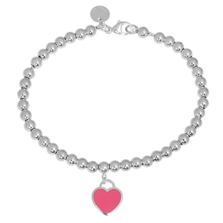 Tiffany & Co. Sterling Silver Heart Tag Bead Bracelet