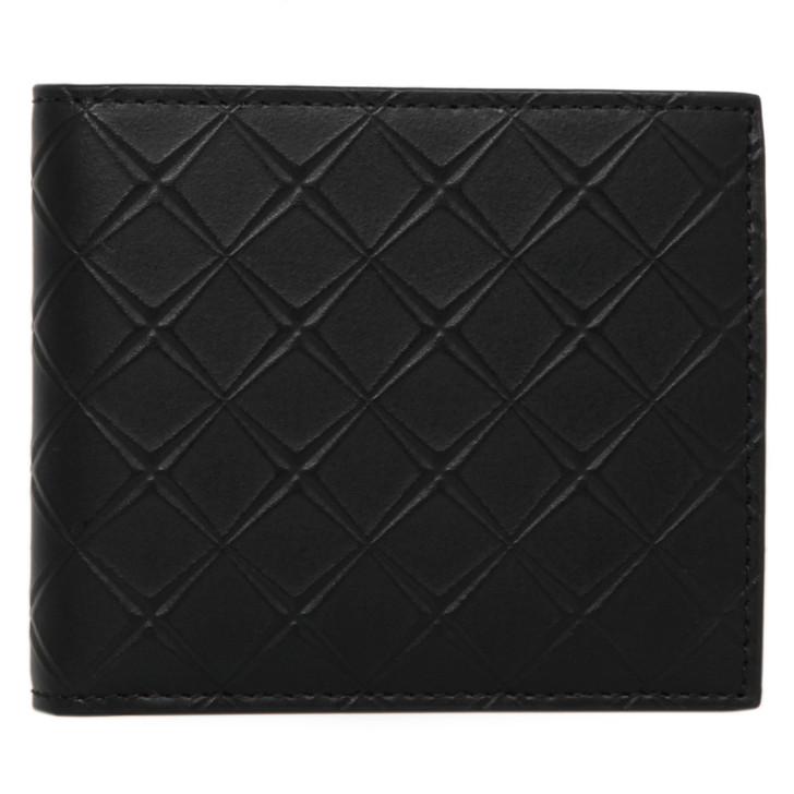 Bottega Veneta Black Intarsio Bifold Wallet