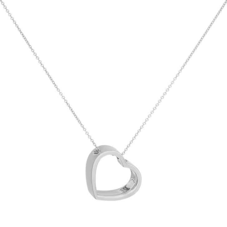 Tiffany & Co. Sterling Silver Geometric Heart Pendant Necklace
