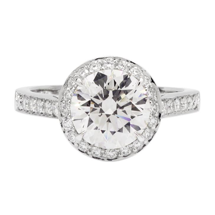 Tiffany & Co. 950 Platinum 1.53 Carat Diamond Embrace Ring