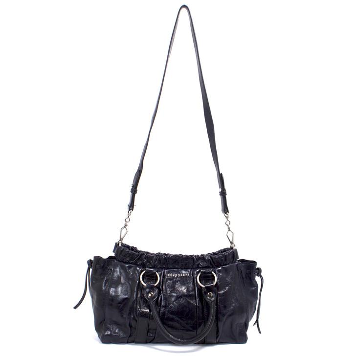 Miu Miu Purple Vitello Lux Shoulder Bag
