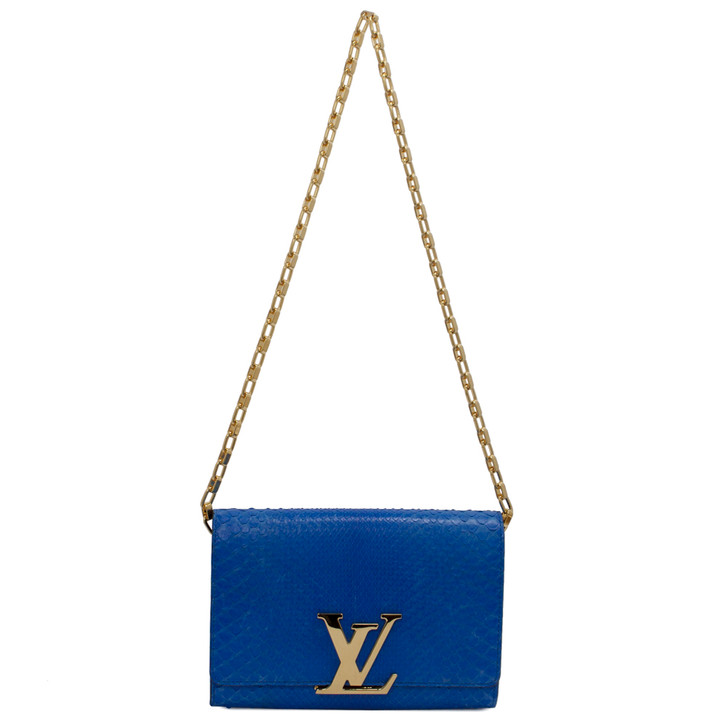 Louis Vuitton Blue Python Louise GM