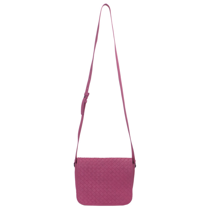 Bottega Veneta Pink Intrecciato Nappa Leather Crossbody Bag