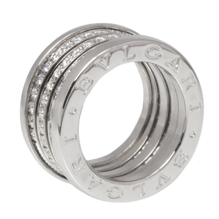 Bvlgari Bulgari 18K White Gold & Diamond B.Zero1 Four Band Ring