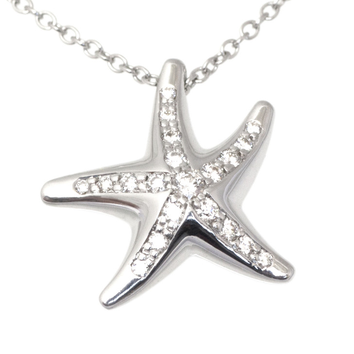Tiffany & Co. Platinum & Diamond Starfish Pendant