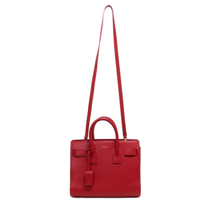 Saint Laurent Red Baby Sac De Jour Bag