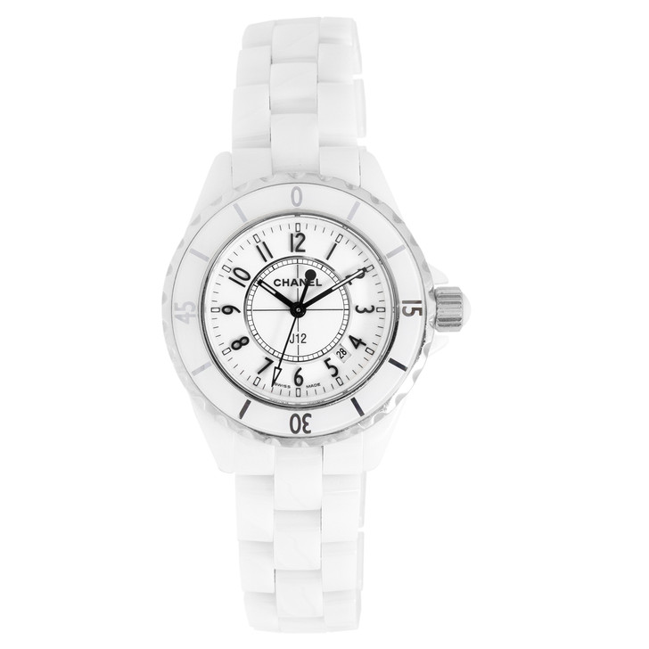 Chanel J12 White Ceramic 33mm Quartz Watch