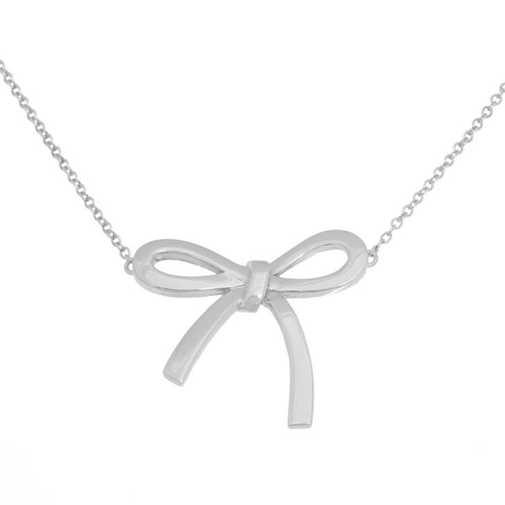Tiffany & Co. Sterling Silver Medium Bow Pendant