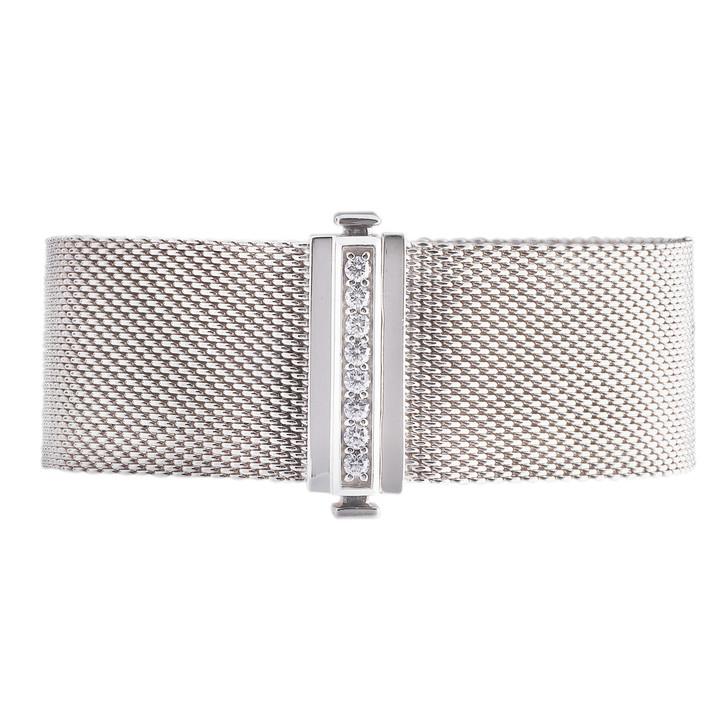 Tiffany & Co. Sterling Silver & Diamond Somerset Bracelet