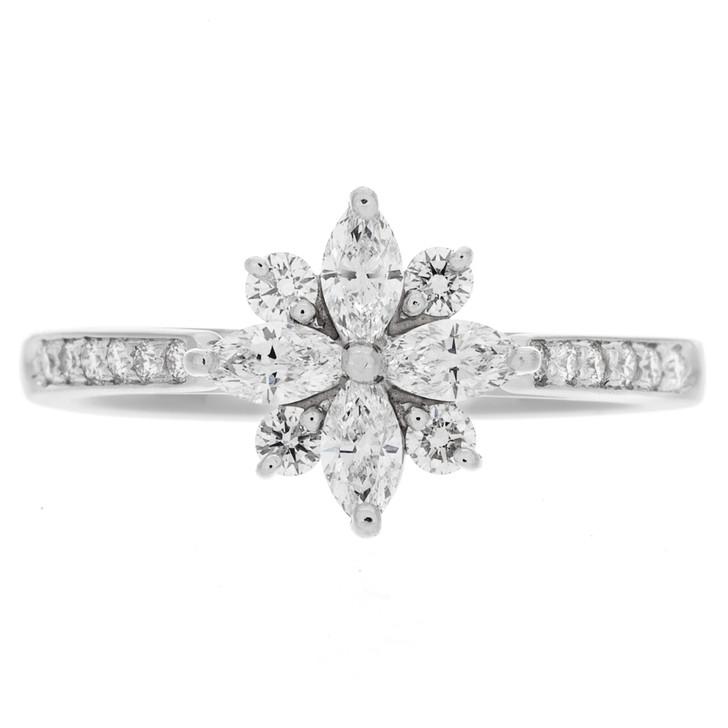Tiffany & Co. Platinum & Diamond Victoria Ring