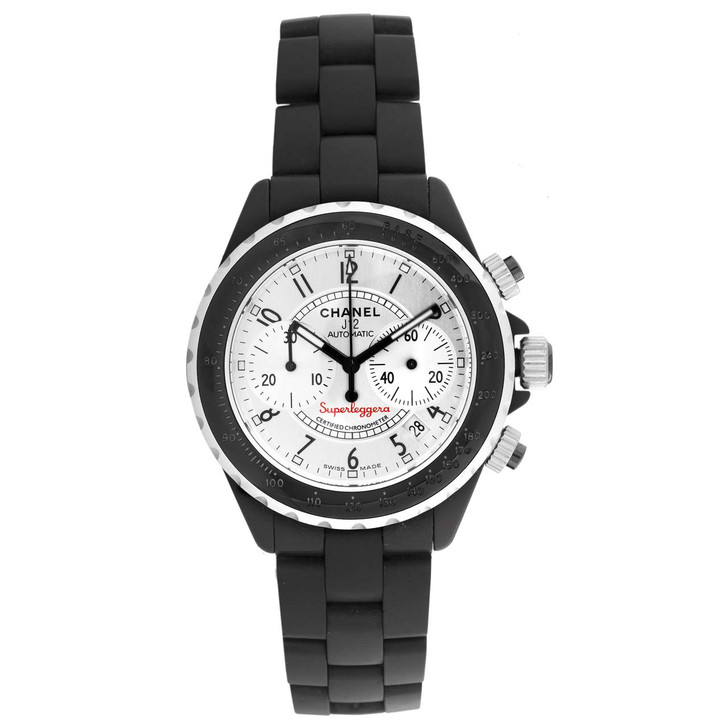 Chanel Black Ceramic Superleggera Chronograph Watch H2039