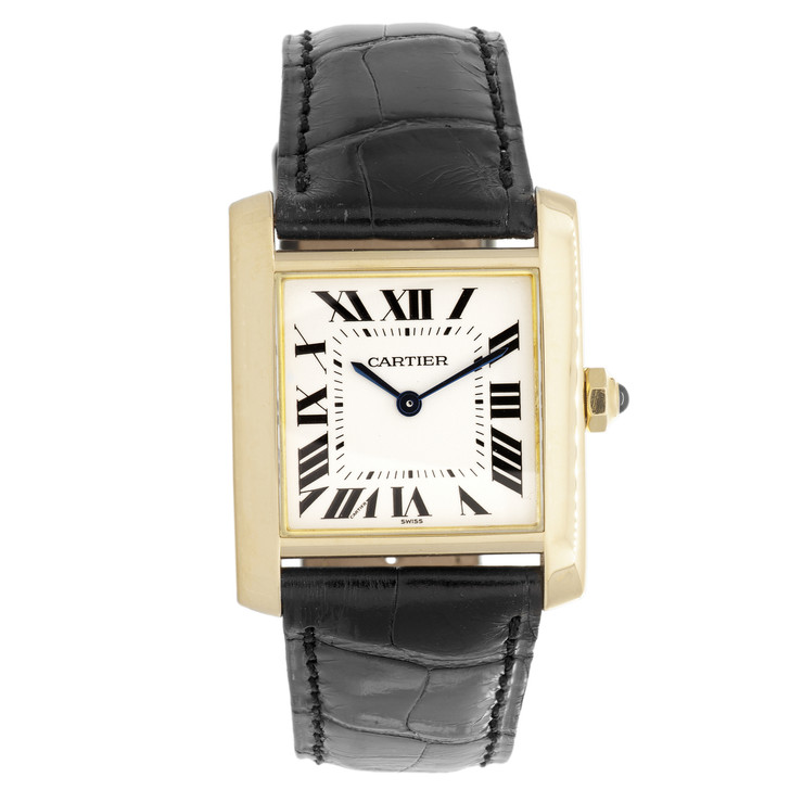 Cartier 18K Yellow Gold Tank Francaise Ladies Watch 1821