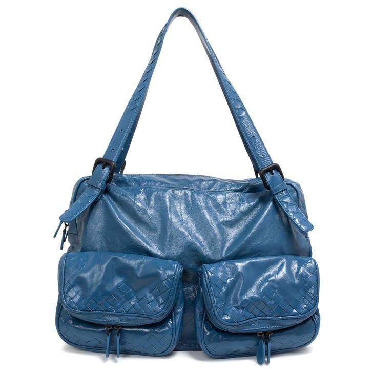 Bottega Veneta Blue Scarabee Multi Pocket Tote